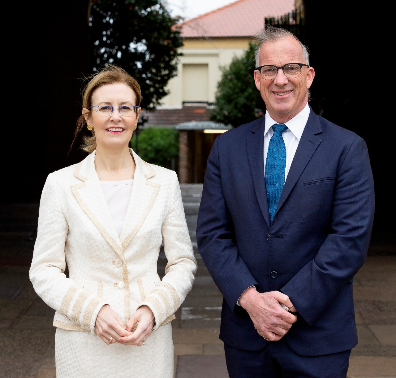 NSW Heritage Minister Gabrielle Upton with Vice-Chancellor and Principal Dr Michael Spence