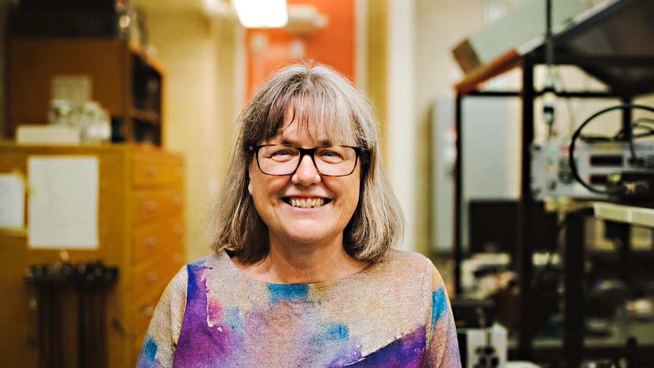 Associate Professor Donna Strickland from the University of Waterloo has become just the third woman in history to receive a Nobel Prize in Physics. Image courtesy of University of Waterloo
