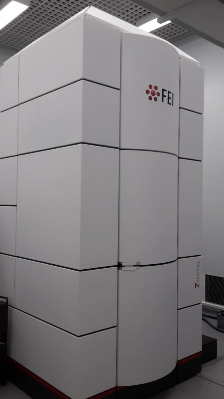 The aberration-corrected transmission electron microscope in the Sydney Nanoscience Hub.