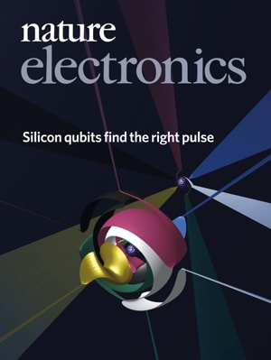 Nature Electronics cover, April.