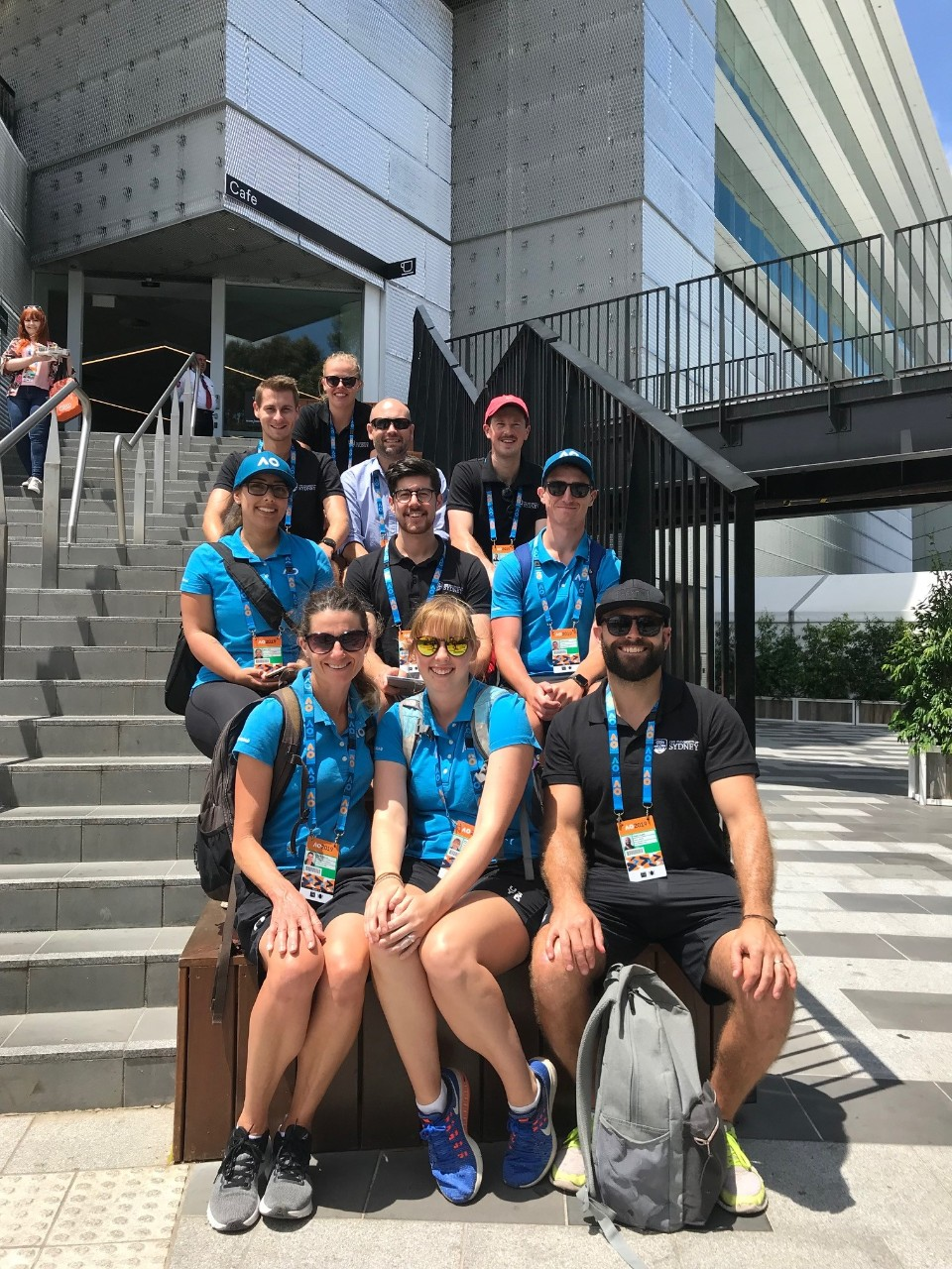 Staff from the Thermal Ergonomics Lab at the 2019 Australian Open