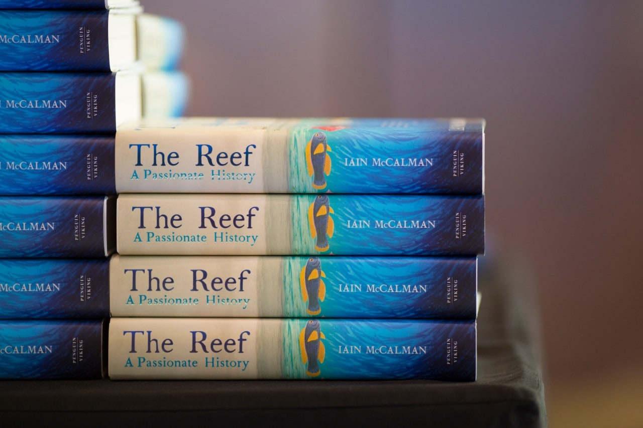 Book covers of The Reef by Professor Iain McCalman.
