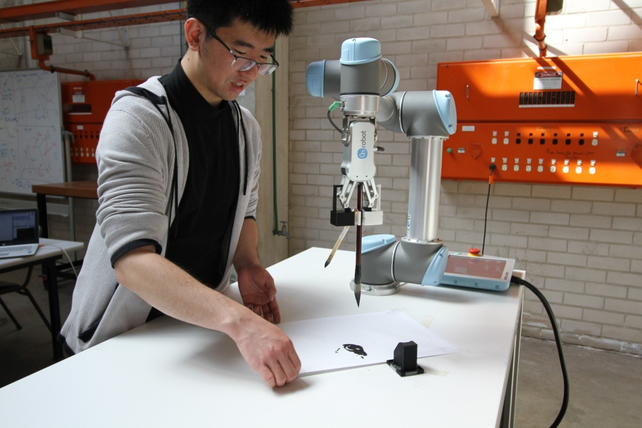 Wenzheng Zhang has combined his love of art and robotics to develop a robot that paints.