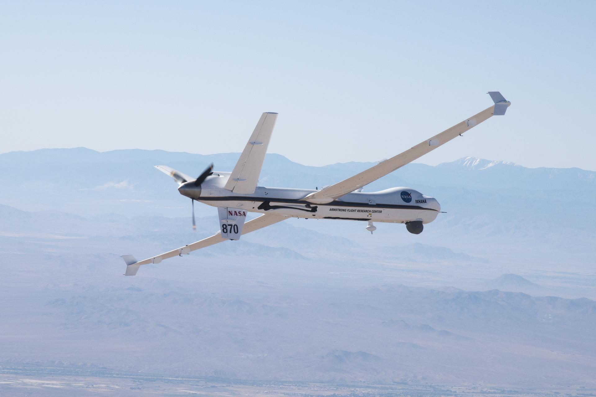 Ikhana, a remotely piloted aircraft, is tested by NASA. Photo credit: NASA