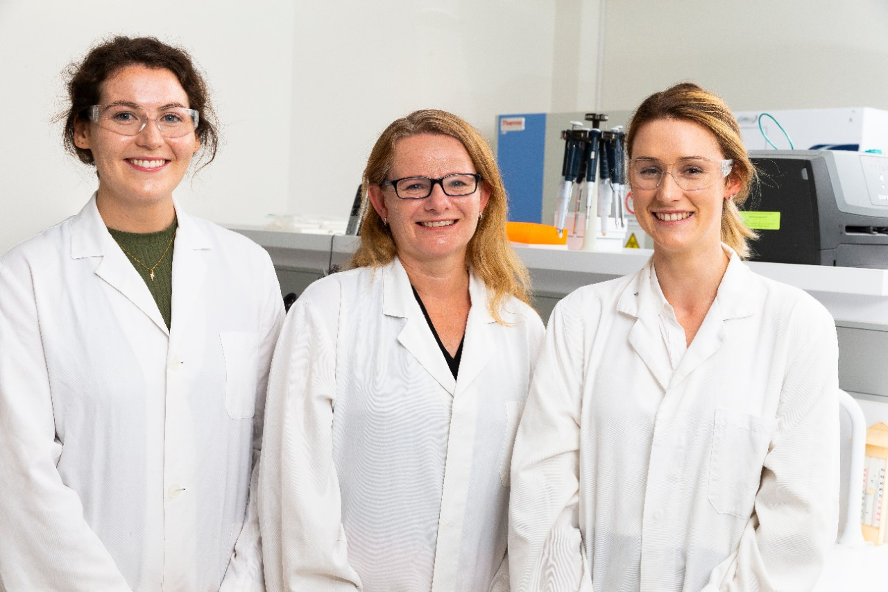 Dr Rachael Gray and PhD students