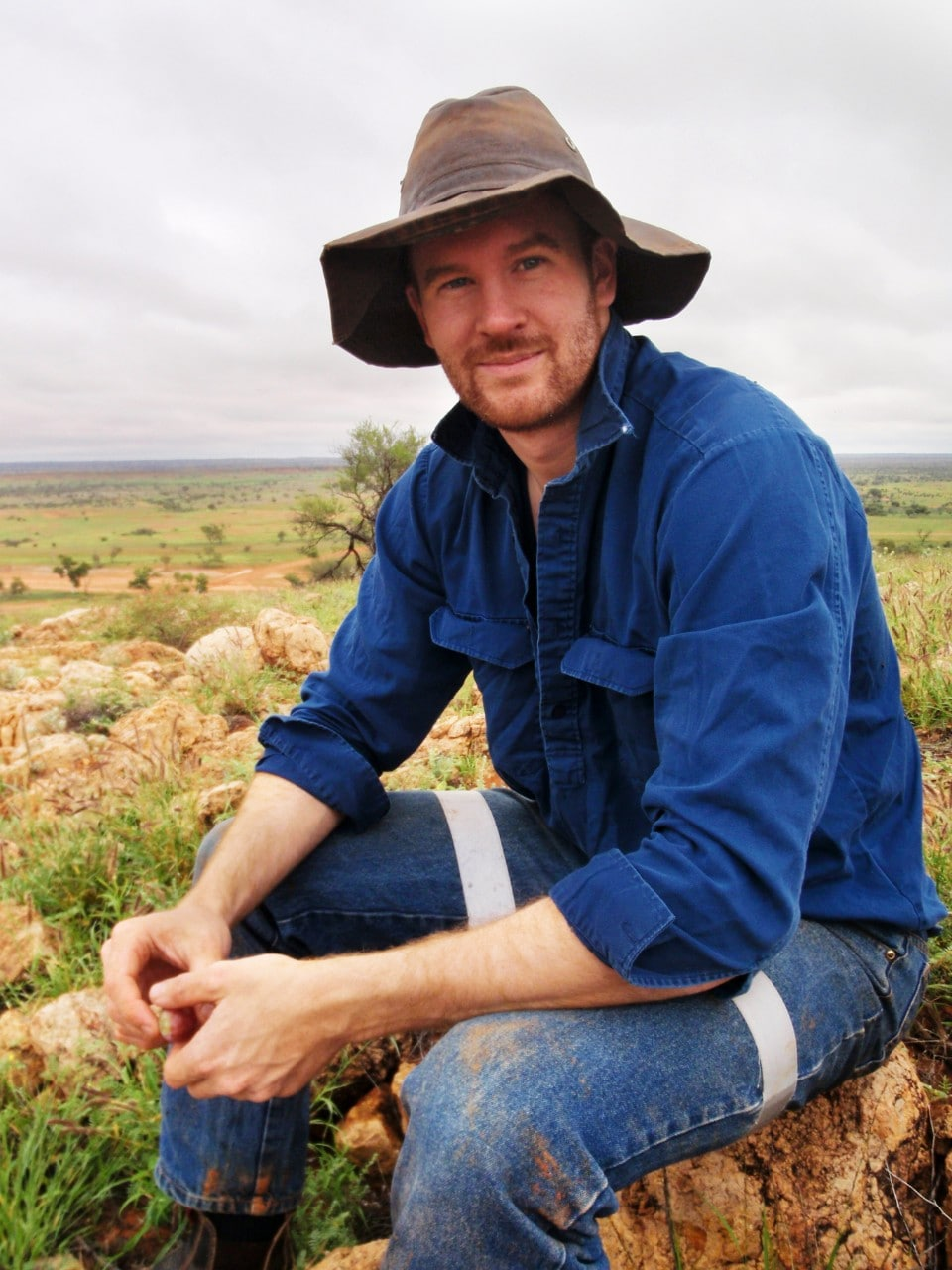 Dr Thomas Newsome in the Central Desert.