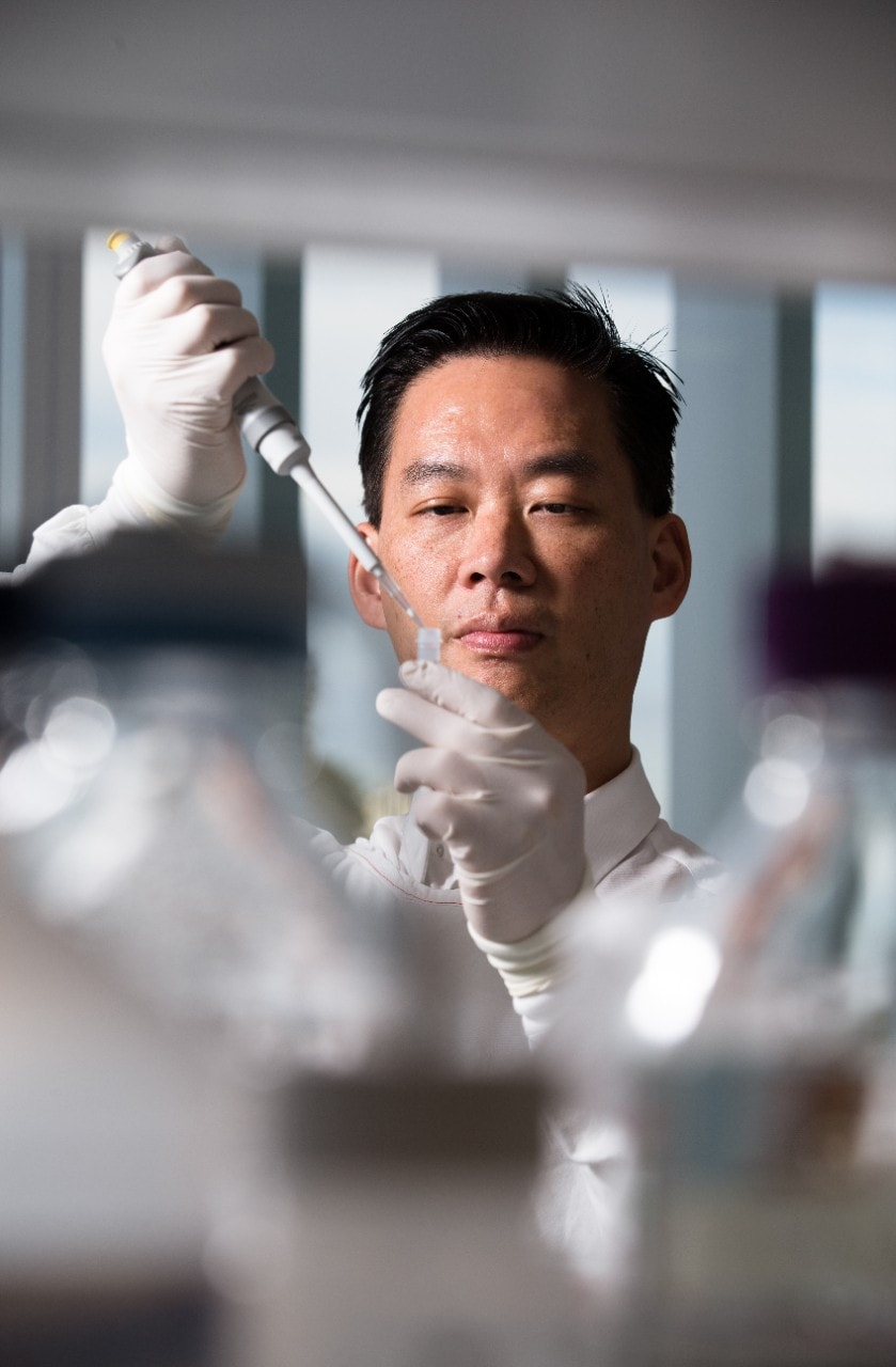 A/Prof Benjamin tang at work in the lab