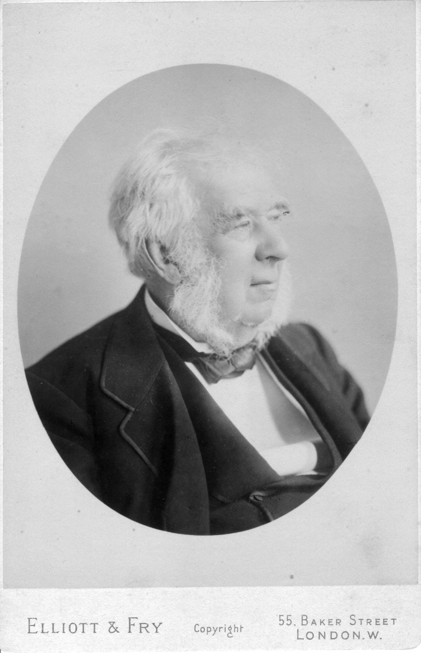 Undated portrait of Sir Charles Nicholson in black and white