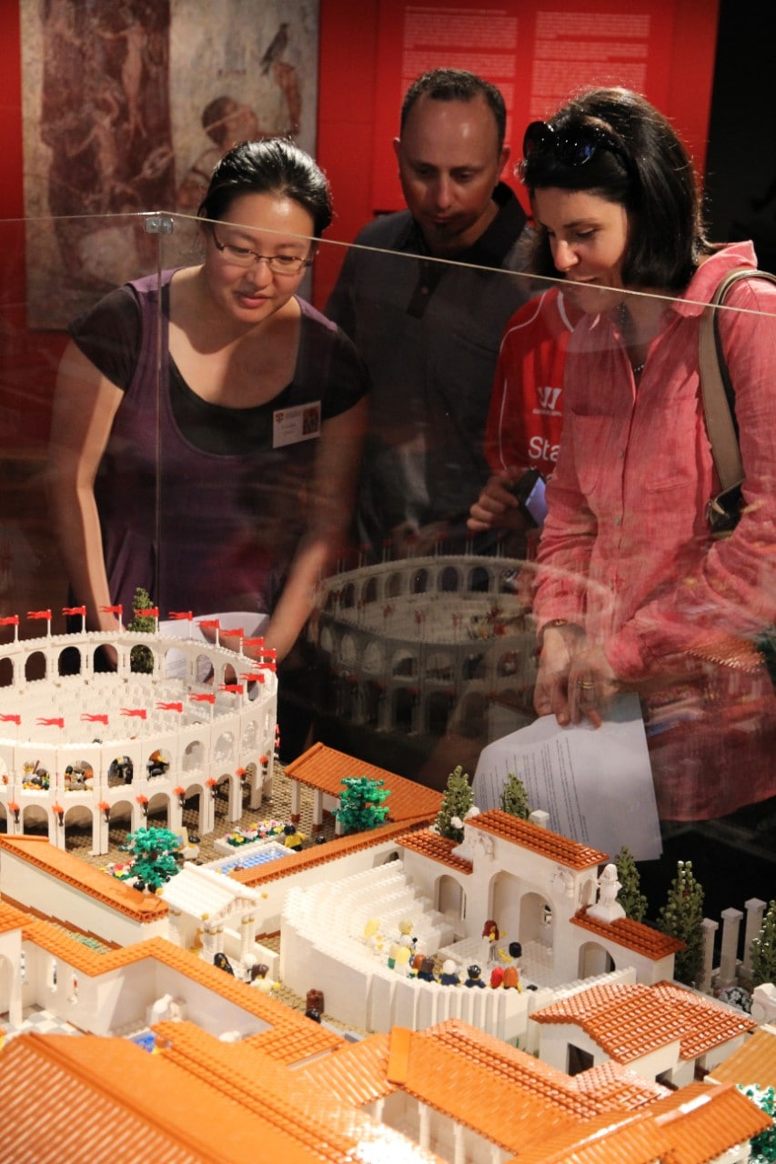 Lego Colosseum on display in the Nicholson