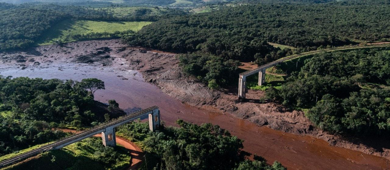 The Corrego do Feijåo tailings dam burst in Brumadinho, Brazil, on 25 January 2019, killing 270 people. Photo: IDF,