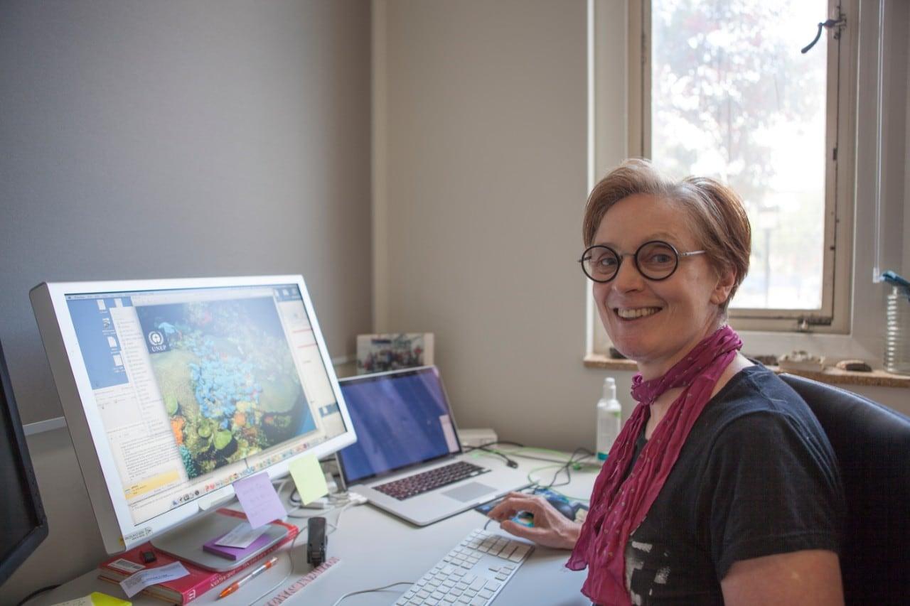 UNESCO Professor for Marine Science Elaine Baker.,UNESCO Professor for Marine Science Elaine Baker.