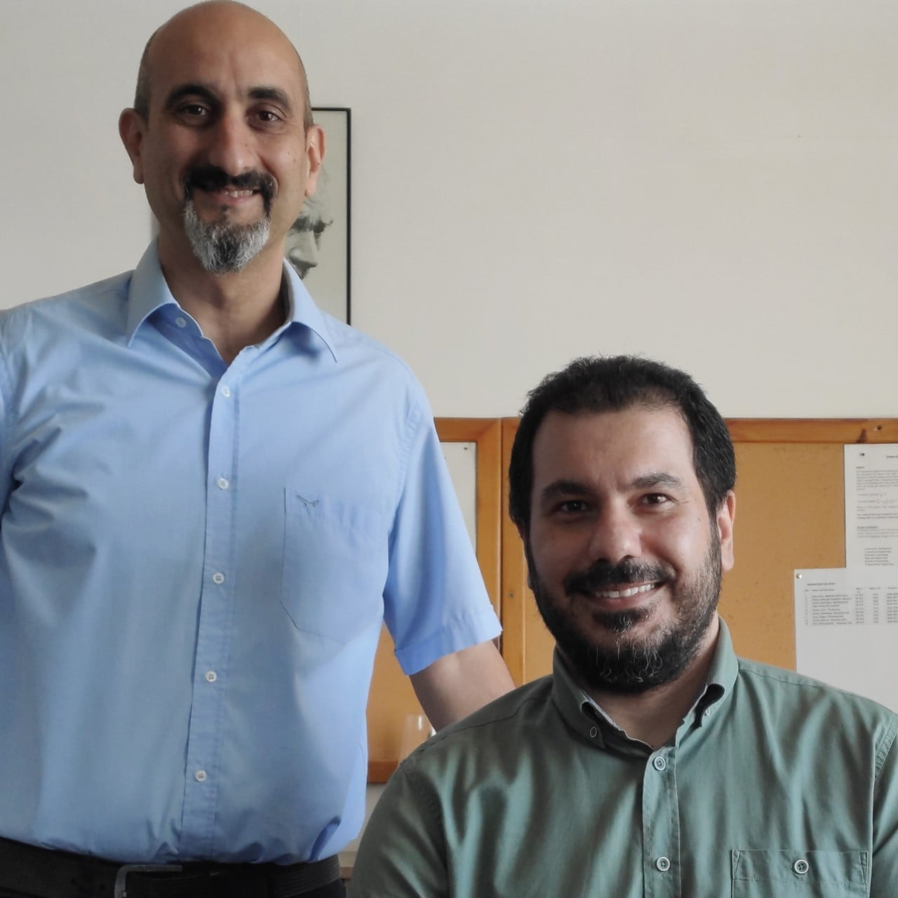Co-authors Dr Umut Turker (left) and Dr Amin Riazi.