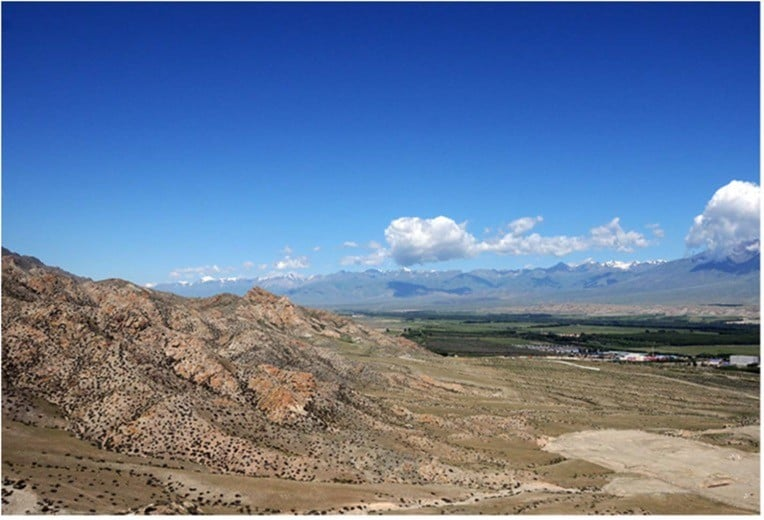 Study Area: The Bortala valley in north-western Xinjiang.