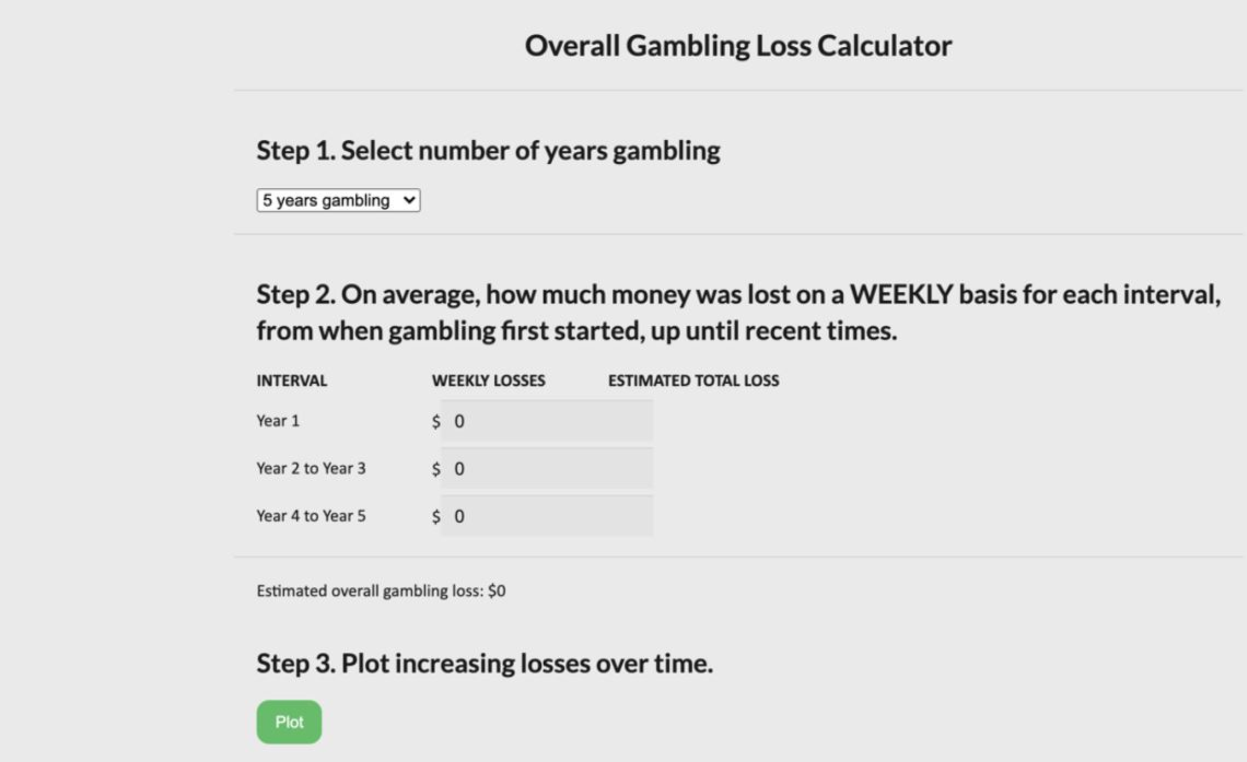 Screenshot from the Gambling Treatment and Research Clinic online program.