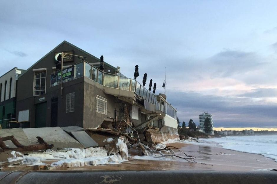 Collaroy Services Club in June 2016. Credit: Professor Andrew Short