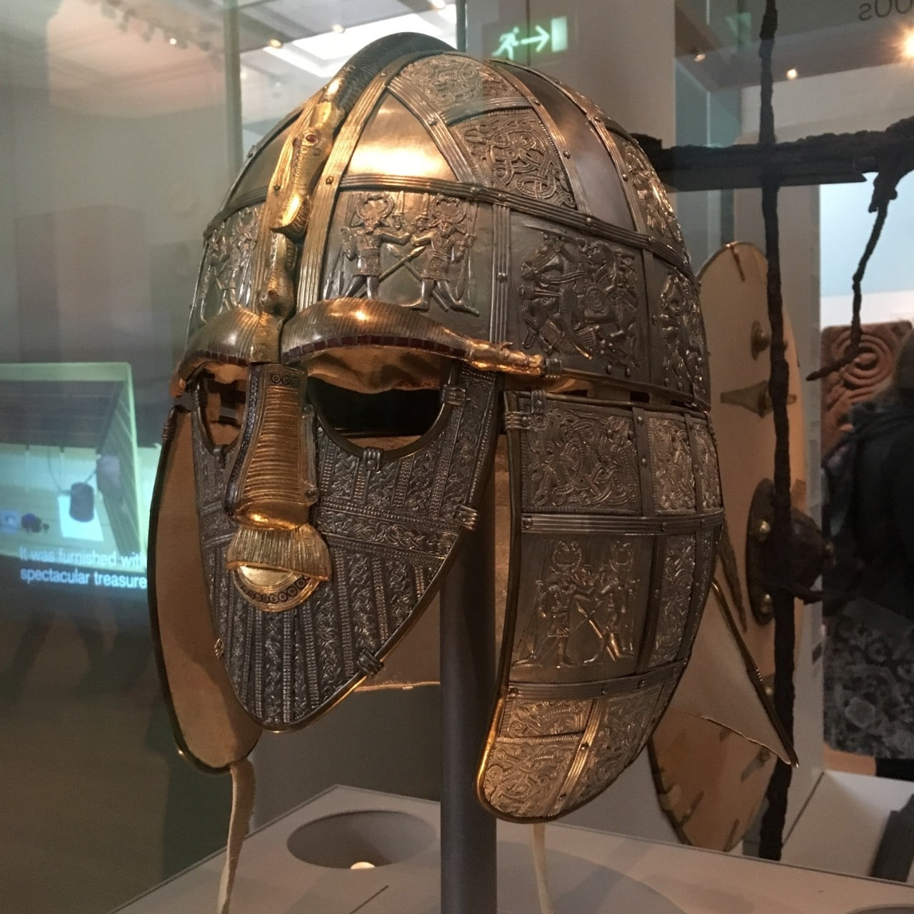 The famous Anglo-Saxon Sutton Hoo helmet , part of the British Museum collection