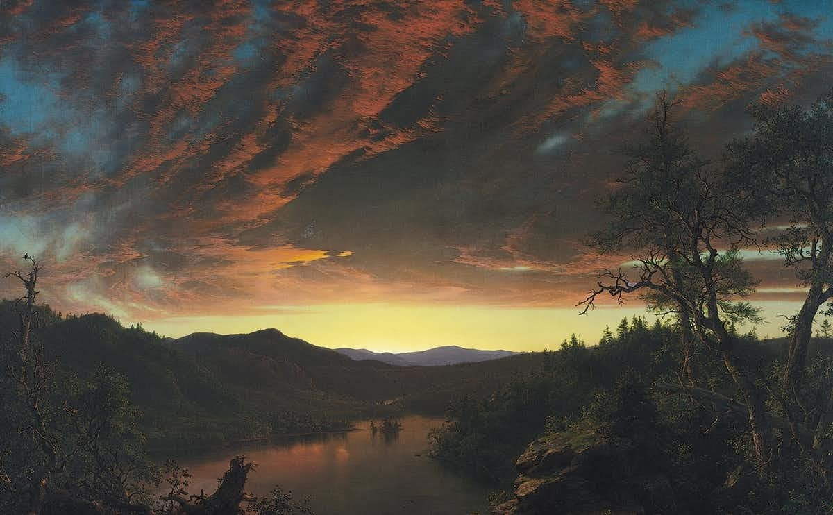 Twilight in the Wilderness by Frederic Edwin Church, c1860.
