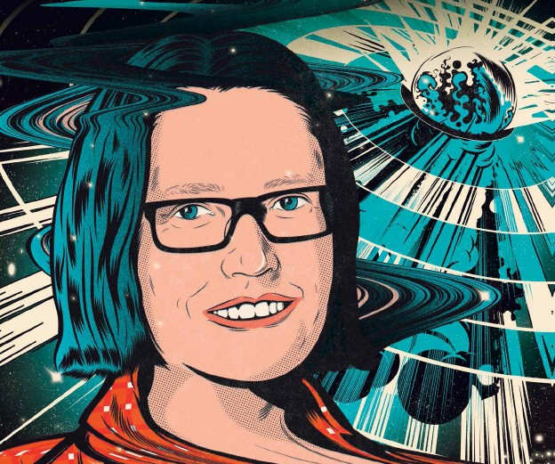 Cartoon of astronomer Tara Murphy