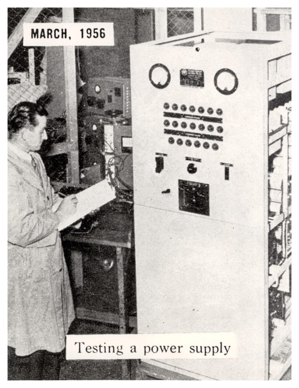 A man operating the SILLIAC computer