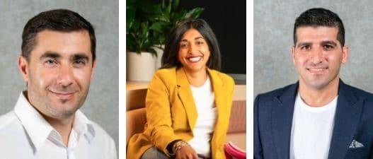 Rupal Ismin, Associate Professor Ali Abbas and Dr Mobin Nomvar.