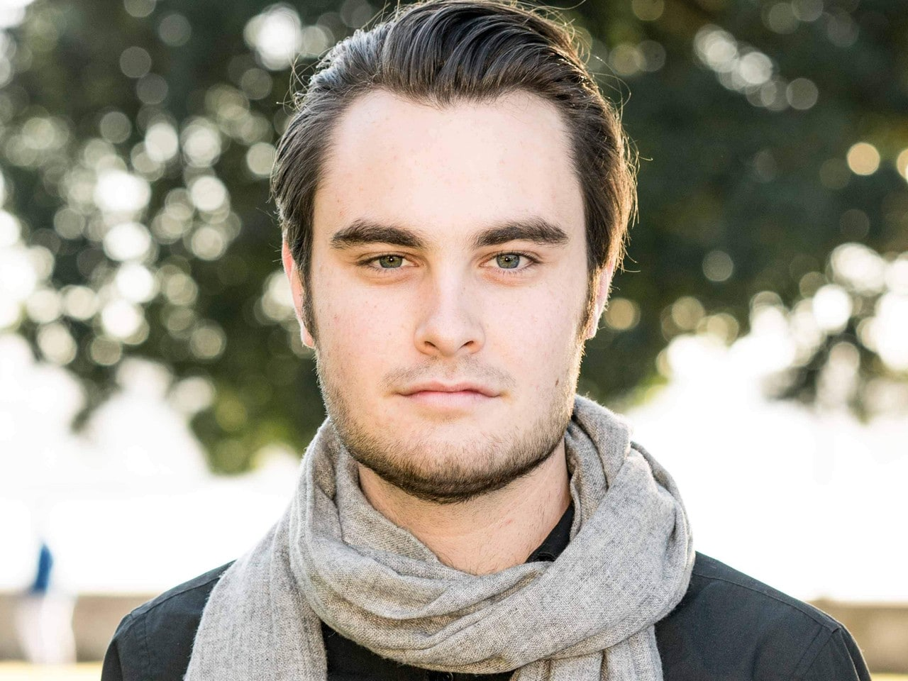 Male musician with scarf