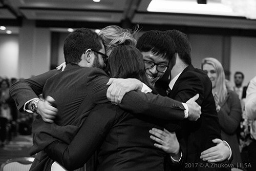 Jessup Cup team embrace