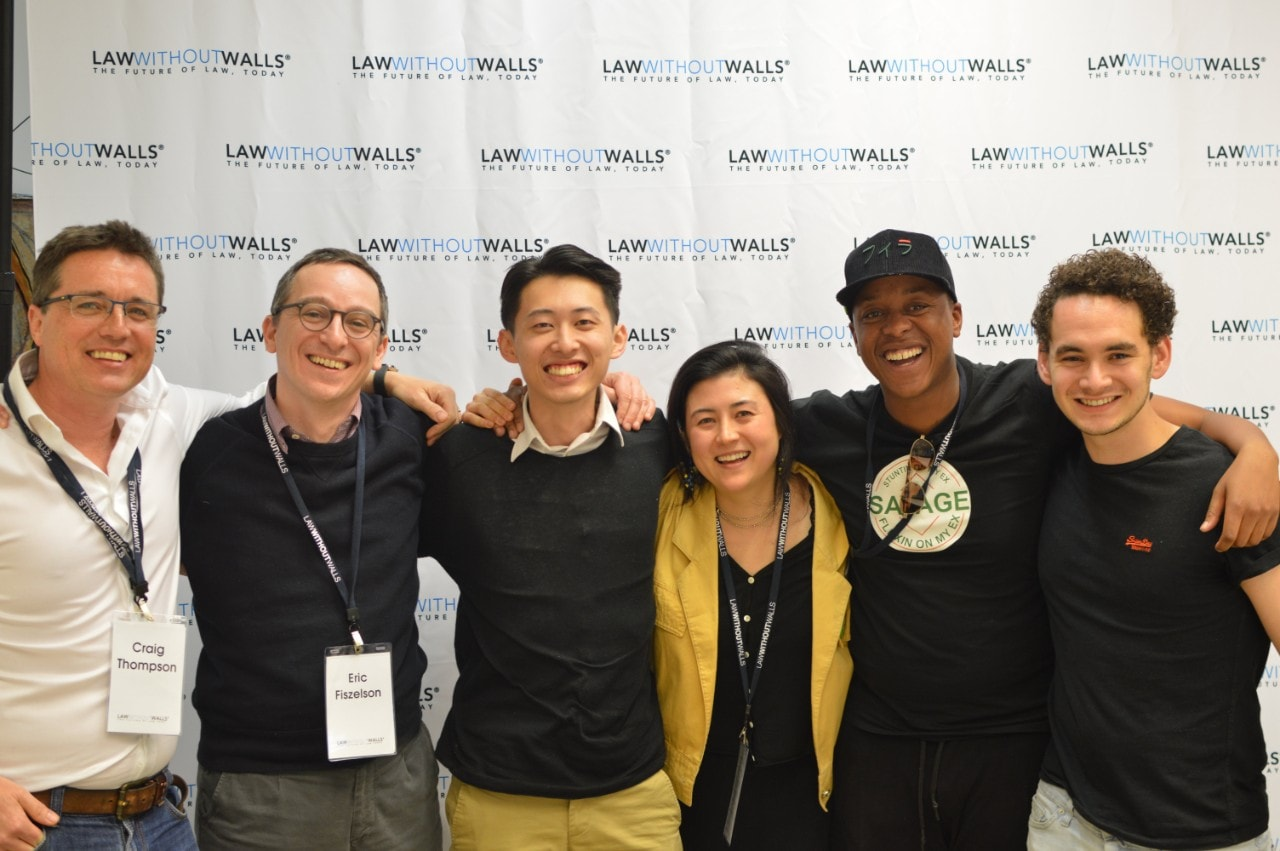 The three co-founders of KITE: Brent Liang, Lisa Gluckstein and Kgabo Senyatsi and their team of mentors.