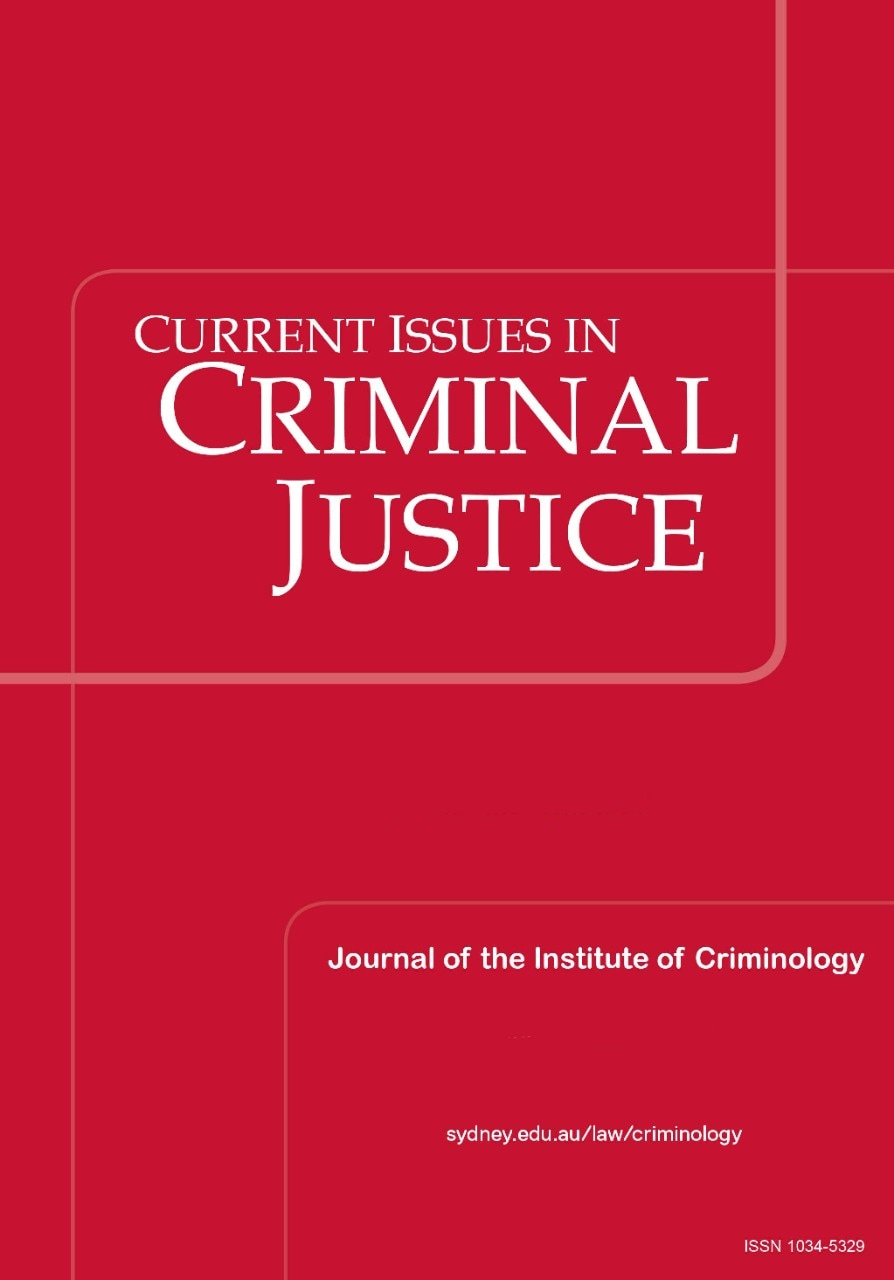 Current Issues in Criminal Justice