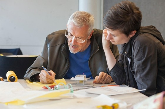 Professor Tom Heneghan teaches at the intensive Architecture Studio workshop