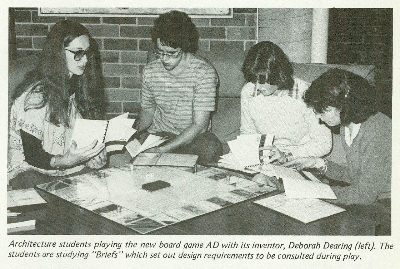 Deborah Dearing and fellow architecture students in 1979