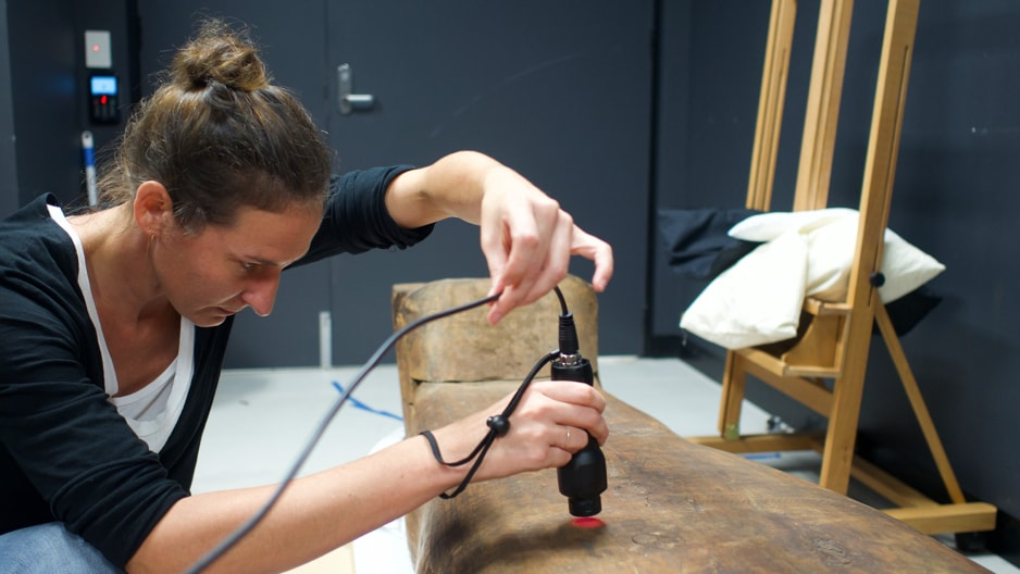 The 2500-year-old mummy Mer-Neith-it-es will be one of the first objects analysed by new micro XRF equipment.