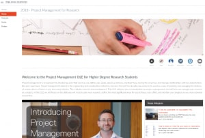 Home page for Research Management for Higher Degree Research Students OLE Unit