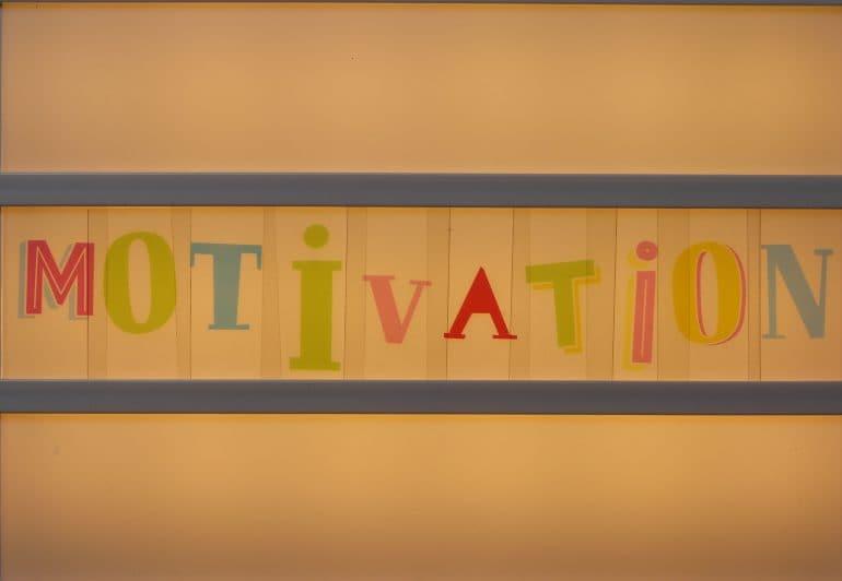 "Letters spelling ""motivation"""