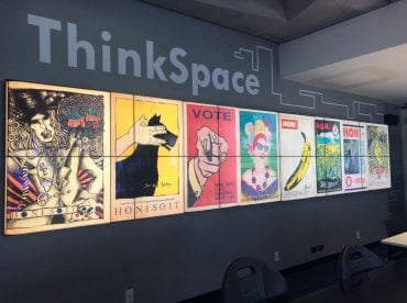 Digital wall in ThinkSpace