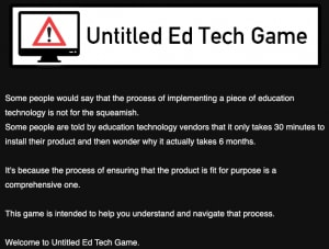 Image of Ed tech game
