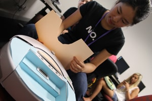 High-schools students pitch ideas to technology entrepreneurs at summer school