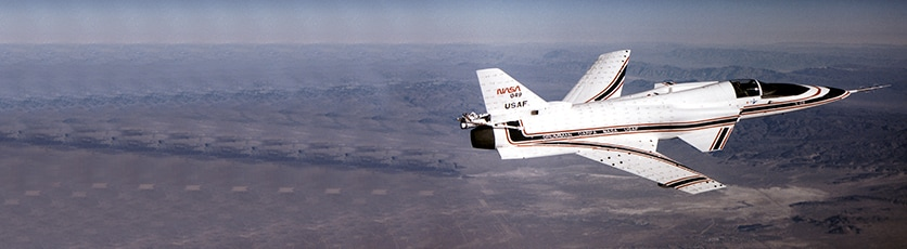 Photo of X-29 aircraft
