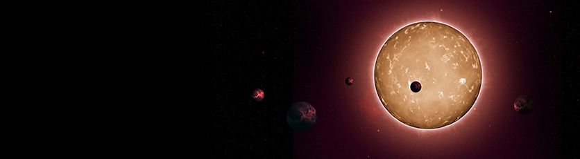 Photo of comparative size Kepler-444 planets and inner solar system planets. Photo: NASA.