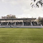 Impression of new grandstand