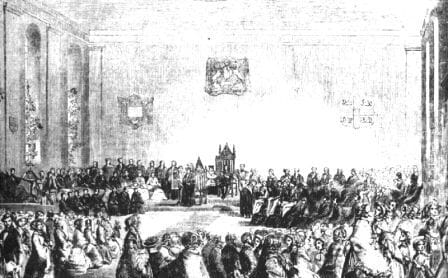 Photo of the inauguration ceremony 1852