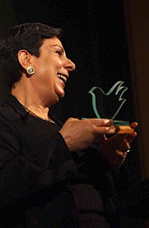 Hanan Asrawi with the Peace Prize