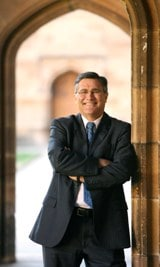 Geoff Gallop in the Sydney University Quadrangle.