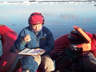 Dr Tracey Rogers in the Antarctic.