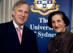 Dr Michael Spence with the Chancellor, Her Excellency Professor Marie Bashir AC CVO