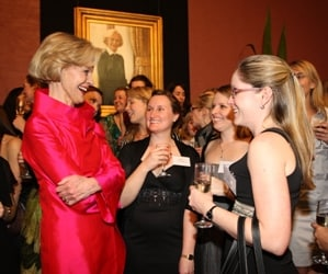 Quentin Bryce with former students at Women's College.
