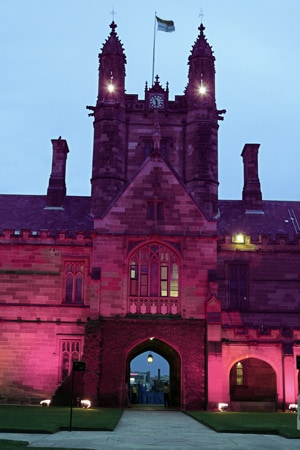 The Clock Tower joined the list of landmark Australian and international buildings to glow pink during Breast Cancer Month.