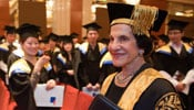 Photo of Professor Marie Bashir at a graduation ceremony