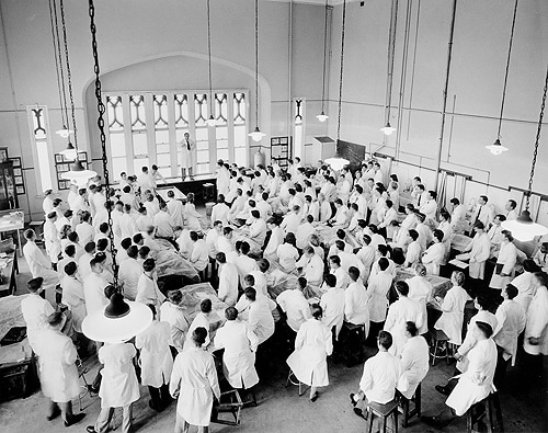 The main dissecting room in 1960.