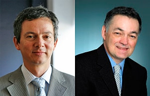 Professors Jürgen Götz (left) and Guy Marks have been named among Australia's top 10 researchers.
