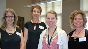 (L-R) The recipients of the 2010 Thompson Fellowships: Dr Belinda Smith, Dr Stacy Carter, Dr Alexandra Sharland and Associate Professor Alaina Ammit.